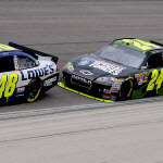 Intensity Ratchets Up Between Jimmie Johnson, Jeff Gordon at Texas