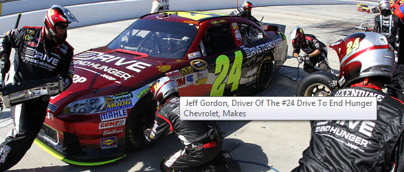 jeff gordon 2011 sponsor. Jeff Gordon#39;s in-car audio