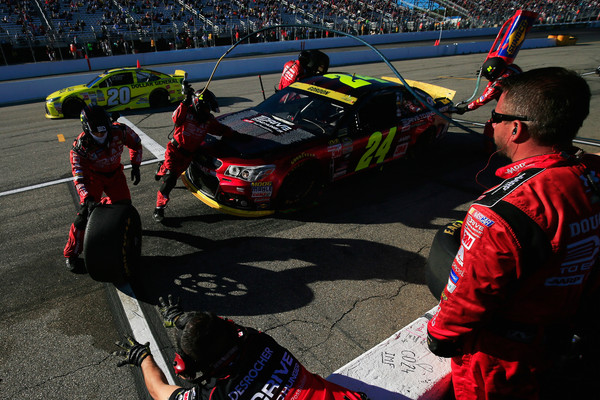 Jeff Gordon New Hampshire Pit Stop