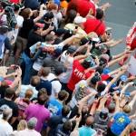 Jeff Gordon Talladega with fans