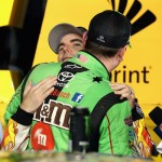 Jeff Gordon Miami with Kyle Busch in Victory Lane